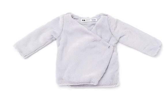 Omamimini Omamimini | Baby Faux Fur Cardigan Grey | 18-24 months