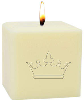 "Carved Solutions 3"" Eco-Luxury Crown Soy Candle"