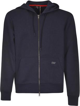Fay Back Patch Logo Zipped Hoodie