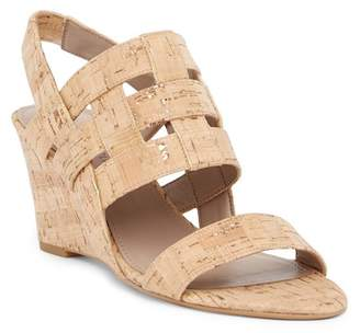 Donald J Pliner Joela Metallic Cork Wedge Sandal