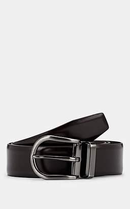 Barneys New York Men's Reversible Leather Belt - Dk. brown