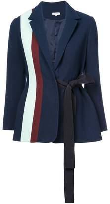 DELPOZO striped tie-waist blazer