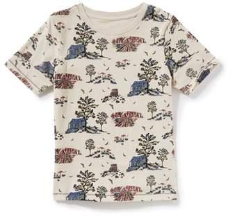 Peek Beach Print T-Shirt