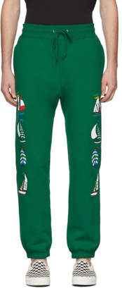Noah NYC Green Sailboat Lounge Pants