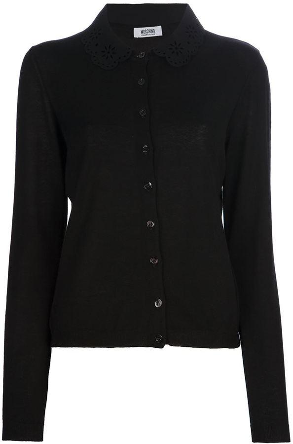 Moschino Cheap & Chic scalloped collar cardigan