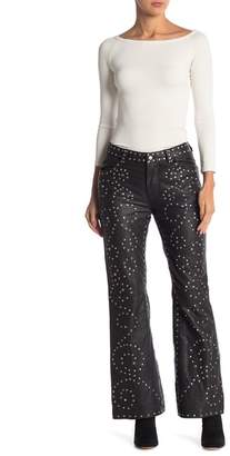 Free People Studded Flared Leather Pants