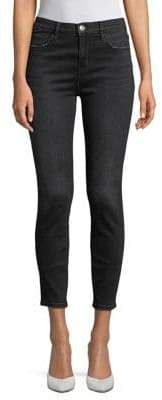 Current/Elliott Current Elliott High-Rise Cropped Jeans