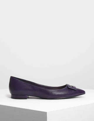 Charles & Keith Wrapped Buckle Detail Ballerinas