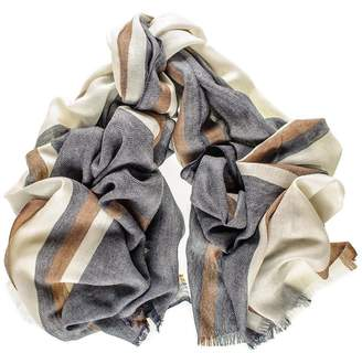 Black Knightsbridge Merino Wool and Silk Scarf