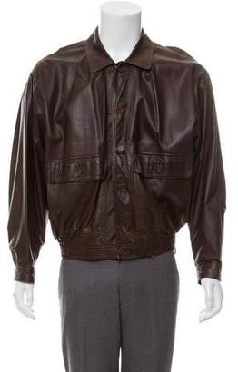 Barneys New York Barney's New York Leather Casual Jacket