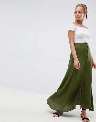 Asos DESIGN button front maxi skirt