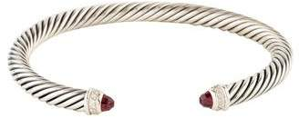 David Yurman Garnet & Diamond Cable Classic Cuff