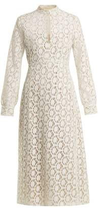 By. Bonnie Young - Long Sleeved Cotton Blend Lace Dress - Womens - White