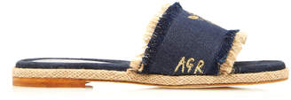 Rae Feather M'O Exclusive: Monogram Bee Denim Slide
