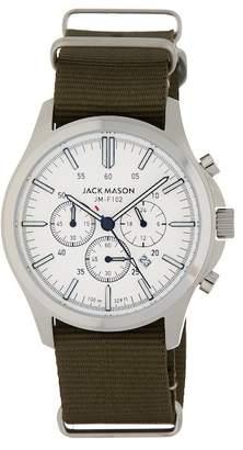 JACK MASON Field Chronograph Nylon Strap Watch, 42mm
