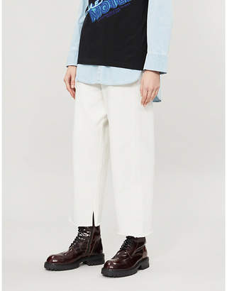 MM6 MAISON MARGIELA Wide-leg cotton-jersey trousers