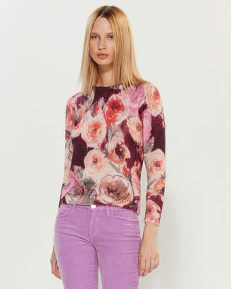 Blugirl Long Sleeve Floral Sweater