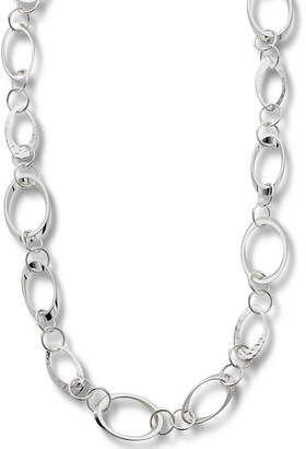 JCPenney Bold Elements Worthington Silver-Tone Circle Link Long Necklace