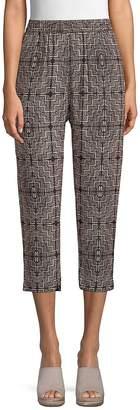 Club Monaco Women's Patricia Silk Cropped Pants