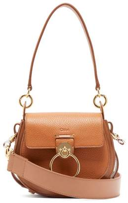 Chloé Tess Small Textured Leather Cross Body Bag - Womens - Tan