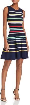 Milly Rainbow Stripe Knit Dress