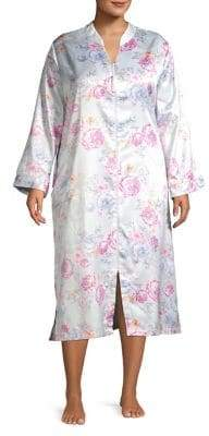 Miss Elaine Plus Floral Sleep Gown
