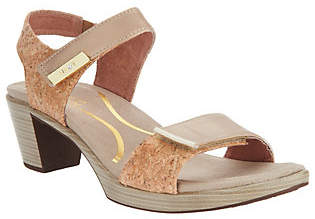 Naot Footwear Leather Ankle Strap Block Heeled Sandals -Intact