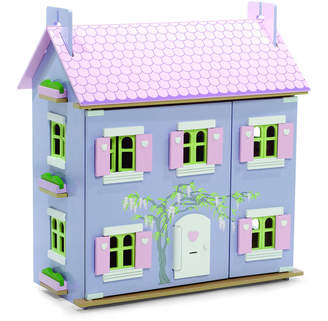 Hibba Toys of Leeds Lavender Dolls House With Furniture