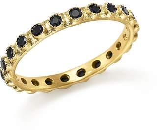 Armenta 18K Yellow Gold Sueno Black Sapphire Stacking Ring