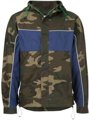 Monkey Time Camouflage Print Hooded Jacket