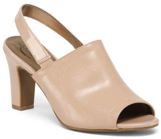 Peep Toe Slingback Comfort Heels