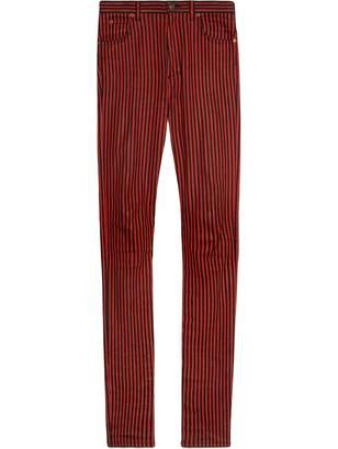Gucci Super skinny denim pant with stripes