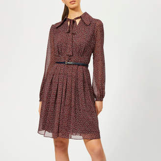 7f0858d6af8393 MICHAEL Michael Kors Women s Vine Print Dress with Belt