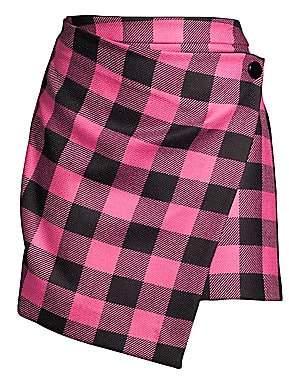 Milly Women's Buffalo Check Mini Skirt