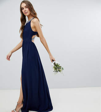 TFNC Tall Embellished Back Detail Maxi Bridesmaid Dress