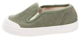 Caramel Baby & Child Girls' Canvas Slip-On Sneakers