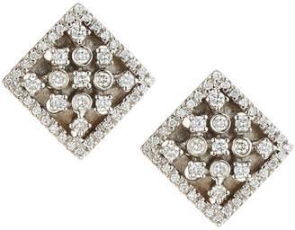 Neiman Marcus Diamonds 14k White Gold Square Diamond Earrings