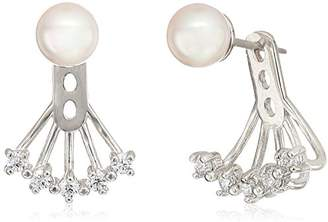 Majorica 6mm Round Pearl On A Sterling Silver Earring Jacket