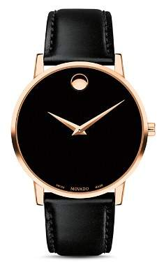 Movado Museum Classic Rose Gold-Tone Case Watch, 40mm