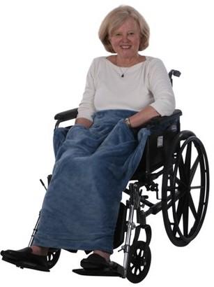Granny Jo Products Lightweight Wheelchair Blanket, Warm Fleece, Fleece Blanket with Pocket