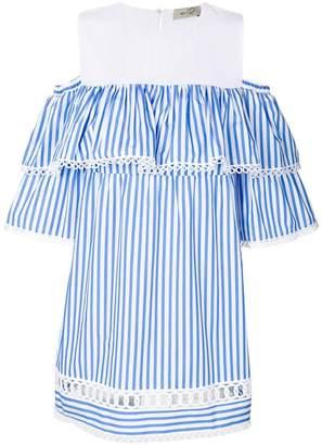 DAY Birger et Mikkelsen Ki6 striped ruffled dress