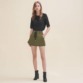 Maje Shorts with eyelets and lacing