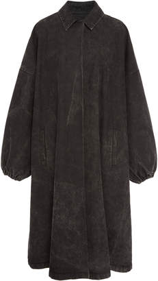 Sally LaPointe Oversized Denim Coat