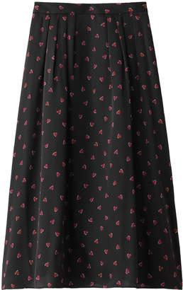 Allureville (アルアバイル) - アルアバイル カンバセーションハートプリントスカート