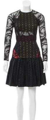 Sophie Theallet Lace-Paneled Eyelet Dress