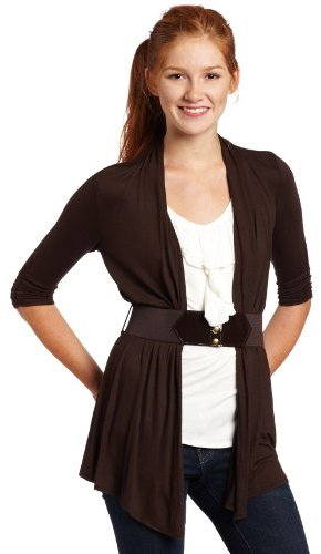 Amy Byer A. Byer Juniors 2 Fer Cozy Top with Layered Ruffle Inset