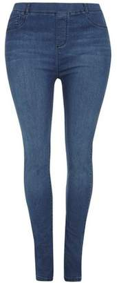 Dorothy Perkins Womens **DP Curve Blue Mid Wash Slim Fit Jeggings