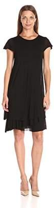 Kensie Women's Sheer Viscose Layered Dress $18.37 thestylecure.com