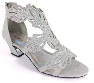 Enzo Romeo Lime03N Womens Open Toe Mid Heel Wedding Rhinestone Gladiator Sandal Wedge Shoes (8, )