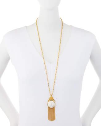 Lele Sadoughi Gazebo Chandelier Tassel Pendant Necklace